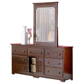 Windsor 7 Drawer Combo Dresser with Portrait Mirror