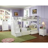 Columbia Staircase Bunk Bed with Raised Panel Drawers