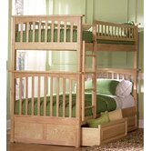 Columbia Bunk Bed with Raised Panel Drawers