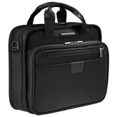 "@Work 13"" Slim Clamshell Briefcase in Black"