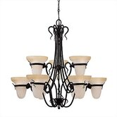 Saranac Lake 9 Light Chandelier