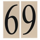 "Ambiance ""6/9"" Address Number Tile in Creme"