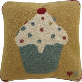 "Cupcakes Square Pillow: 18"" x 18"""