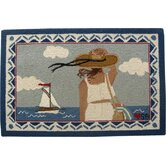 Summer Day: 2' x 3' - Blue Rug and Accessories