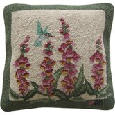 "Hummingbird Garden Square: 18"" x 18"" - Green Pillow"