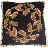 "Autumn Leaves Square: 18"" x 18"" - Black Pillow"