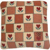 "Heart in Hand Square: 18"" x 18"" - Red Pillow"