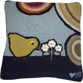 "Baby Chicks Square: 18"" x 18"" - Blue Pillow"
