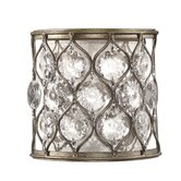 Lucia  Wall Sconce in Burnished Silver