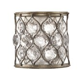 Lucia One Light Wall Sconce in Burnished Silver