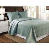 Vashon Slate Blue Quilt Set
