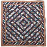 Dusty Diamond Log Cabin Quilt