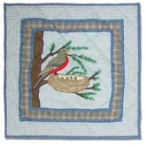 Songbirds Cotton Toss Pillow