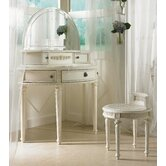 Emma's Treasures Small Bedroom Vanity and Mirror with Optional Bench