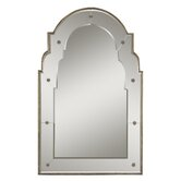 Gella Small Decorative Wall Mirror in Distressed Champagne