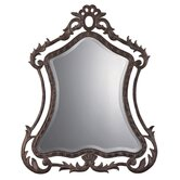 Cleopatra Bronze Mirror in Antiqued Dark Bronze