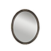 Newport Oval Beveled Mirror in Bronze