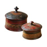 Sherpa Round Decorative Boxes, Set of 2
