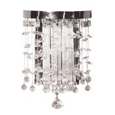 Fascination Wall Sconce in Chrome with Crystal Accents