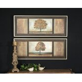 Elusive Treescape Wall Art in Hand Applied Brushstroke (Set of 2)