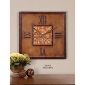 Scordia Clock in Light Chestnut Wash