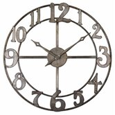 Delevan Clock in Antiqued Silver Leaf