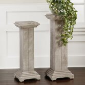 Bulan Pedestal Plant Stand (Set of 2)