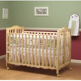 Lisa Two Level Full Size Folding Crib in Natural
