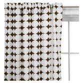Reverse Dots Curtain Panel in White and Chocolate