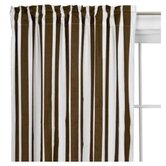 Stripes Curtain Panel in White and Chocolate