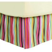 Dots and Stripes Spice Bed Skirt in Bright Multicolor