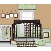 Metro Lime, White and Chocolate Crib Bedding Collection