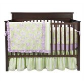 Flower Basket Lilac and Green Crib Bedding Collection