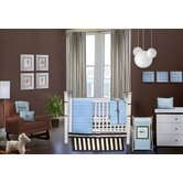 Quilted Circles Blue and Chocolate Crib Bedding Collection