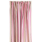 Mod Dots and Stripes Curtain Panel in Pink and Chocolate