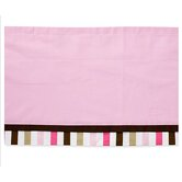 Mod Dots and Stripes Valance in Pink and Chocolate