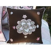 Retro Flower Embroidered Cushion