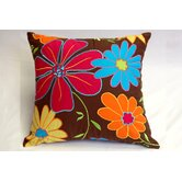 Valley of Flowers Brown Dec Square Pillow
