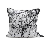 Tree Bomb Silk Pillow in Black