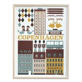 Copenhagen Framed Vintage Advertisement