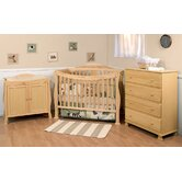 Parker Three Piece Convertible Crib Nursery Set with Toddler Rail in Natural