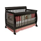 Kalani 4-in-1 Convertible Crib with Toddler Rail in Ebony
