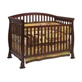 Thompson 4-in-1 Convertible Crib with Toddler Rail in Coffee