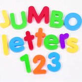 Jumbo Magnetic Letters and Numbers Combo Set