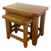 Sandown Nesting Table in Rustic Oak