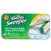 Wet Cloth, For Swiffer Sweeper, Disposable, 12 per Box
