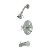 Metropolitan Diverter Tub and Shower Faucet with Buckingham Cross Handles