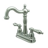 Heritage Double Handle Centerset Bar Faucet with Metal Lever Handles