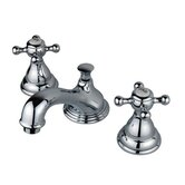 Widespread Bathroom Faucet with Double Buckingham Cross Handles