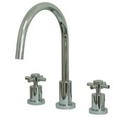 Double Handle Widespread Kitchen Faucet with Cross Handle